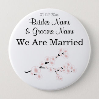 Cherry Blossom Wedding Souvenirs Gifts Giveaways Button