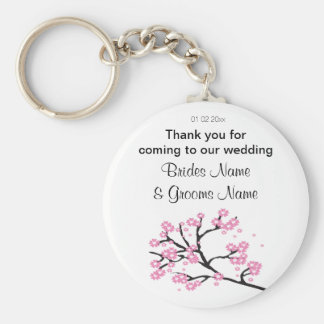 Cherry Blossom Wedding Souvenirs Gifts Giveaways Keychain