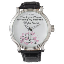 Cherry Blossom Wedding Souvenirs Gifts Giveaways Watch