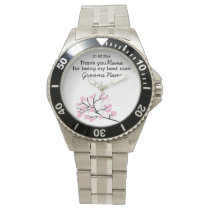 Cherry Blossom Wedding Souvenirs Gifts Giveaways Wrist Watch