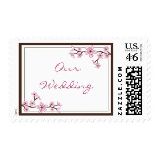 Cherry Blossom Wedding Stamps