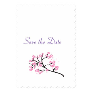 Cherry Blossom Wedding Theme Save the Date Card