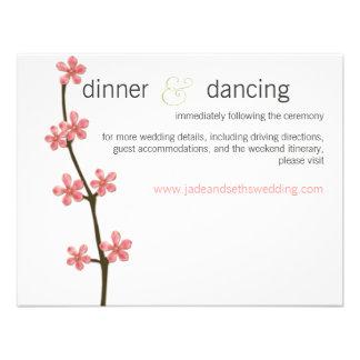 cherry blossom wedding website profile card invite