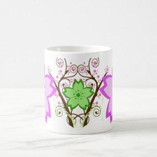 Cherry Blossom White Coffee Mug