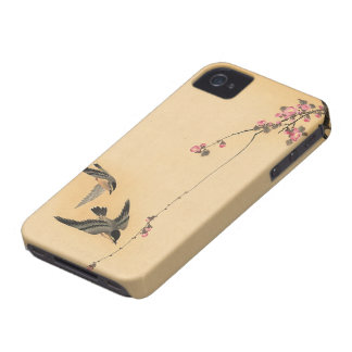 Cherry blossom with birds by Ohara Koson Case-Mate iPhone 4 Cases