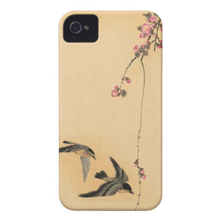 Cherry blossom with birds by Ohara Koson iPhone 4 Covers