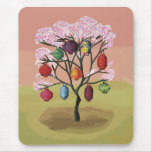 Cherry Blossom with oriental paper lanterns Mouse Pad