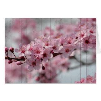 Cherry Blossom Wood Card