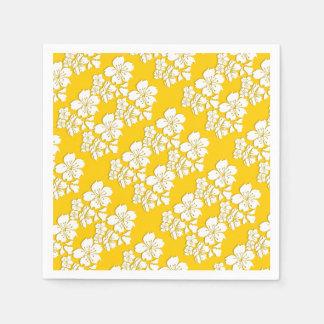 Cherry blossom yellow sakura spring paper napkins