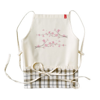 Cherry Blossom Zazzle HEART Apron