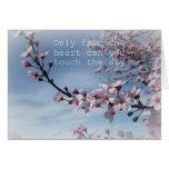 Cherry Blossom Zen Flowering Tree Card