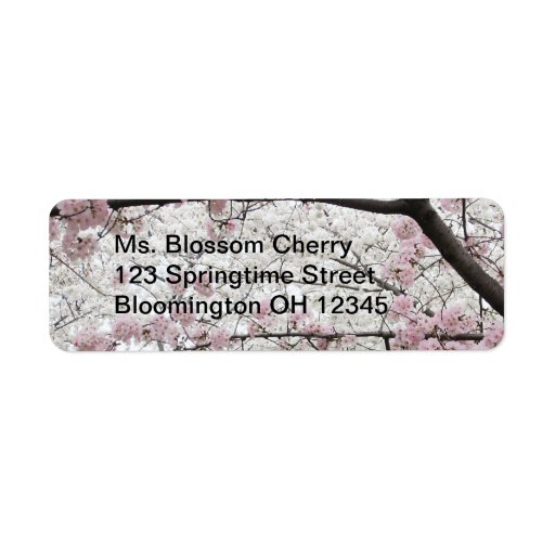 Cherry Blossoms 10 Label