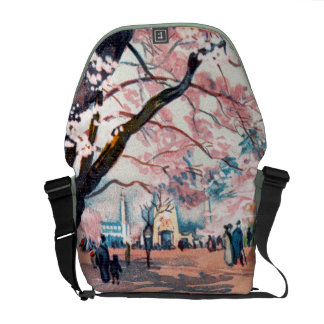 Cherry Blossoms (1910) Zero Messenger Bag (Medium)