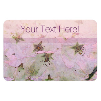 Cherry Blossoms 2 Pink Rectangular Photo Magnet