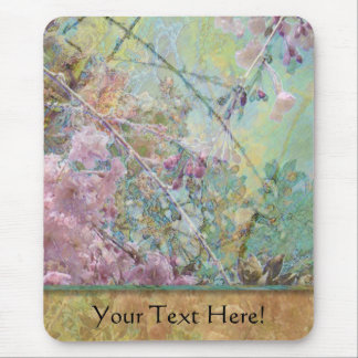 Cherry Blossoms Abstract Mouse Pad