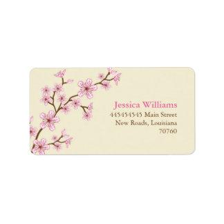 Cherry Blossoms Address Label