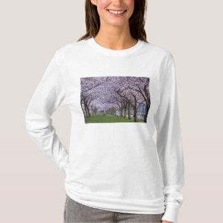 Cherry blossoms along Willamette river, USA T-Shirt