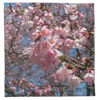 Cherry Blossoms and Bee Napkins