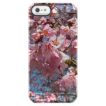 Cherry Blossoms and Bee Pink Spring Floral Clear iPhone SE/5/5s Case