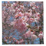 Cherry Blossoms and Bee Pink Spring Floral Cloth Napkin