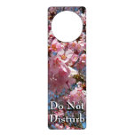 Cherry Blossoms and Bee Pink Spring Floral Door Hanger