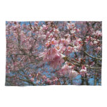 Cherry Blossoms and Bee Pink Spring Floral Hand Towel