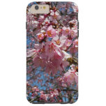 Cherry Blossoms and Bee Pink Spring Floral Tough iPhone 6 Plus Case