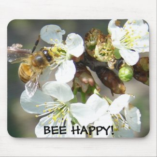Cherry Blossoms and Bees mousepad