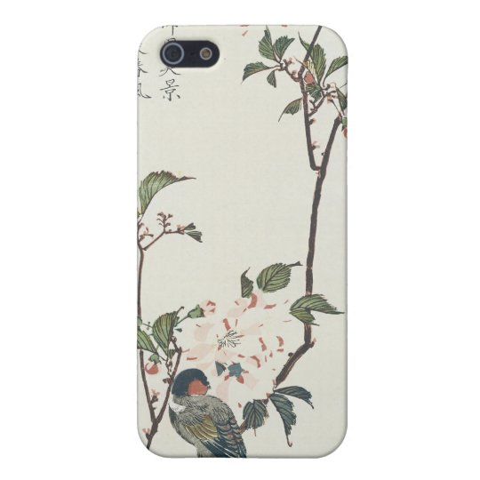 Cherry Blossoms and Bird by Hiroshige iPhone SE/5/5s Cover
