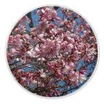 Cherry Blossoms and Blue Sky Spring Floral Ceramic Knob