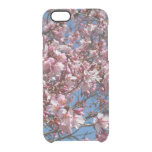 Cherry Blossoms and Blue Sky Spring Floral Clear iPhone 6/6S Case