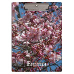 Cherry Blossoms and Blue Sky Spring Floral Clipboard