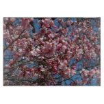 Cherry Blossoms and Blue Sky Spring Floral Cutting Board