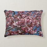 Cherry Blossoms and Blue Sky Spring Floral Decorative Pillow