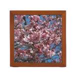 Cherry Blossoms and Blue Sky Spring Floral Desk Organizer