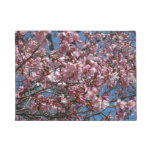 Cherry Blossoms and Blue Sky Spring Floral Doormat