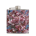 Cherry Blossoms and Blue Sky Spring Floral Flask