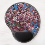 Cherry Blossoms and Blue Sky Spring Floral Gel Mouse Pad