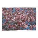 Cherry Blossoms and Blue Sky Spring Floral Hand Towel