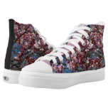 Cherry Blossoms and Blue Sky Spring Floral High-Top Sneakers