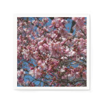 Cherry Blossoms and Blue Sky Spring Floral Napkin