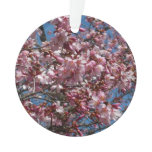 Cherry Blossoms and Blue Sky Spring Floral Ornament