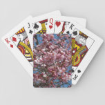 Cherry Blossoms and Blue Sky Spring Floral Playing Cards