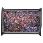 Cherry Blossoms and Blue Sky Spring Floral Serving Tray