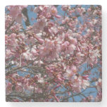 Cherry Blossoms and Blue Sky Spring Floral Stone Coaster