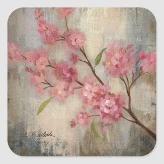 Cherry Blossoms and Branch Square Sticker