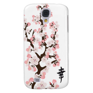 Cherry Blossoms and Kanji 3G 3GS Samsung Galaxy S4 Covers