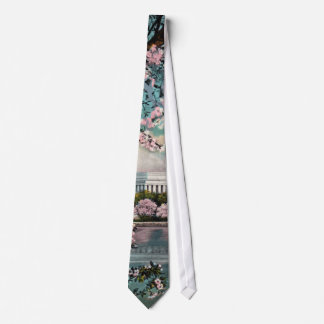 Cherry Blossoms and Licoln Memorial Tie