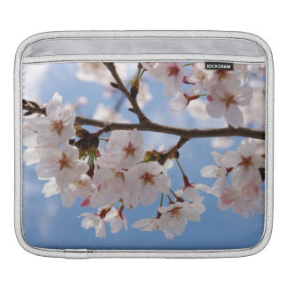 Cherry blossoms and light-blue sky sleeve for iPads