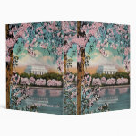 Cherry Blossoms and Lincoln Memorial Binder